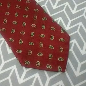 Brooks Brothers Makers Silk Tie Red Pattern EUC